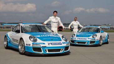Fahrer Estre und Thiim mit ihren Porsche