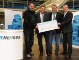 Hermes Spendenscheck-Übergabe in Hückelhoven