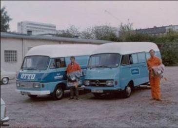 Hermes-Start vor 40 Jahren