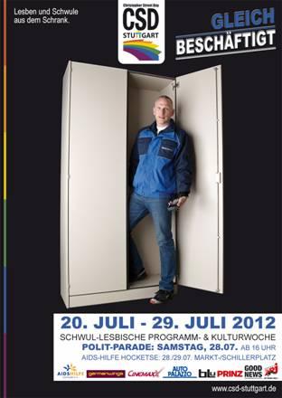 Ralf Nagel posiert für die Stuttgarter CSD Kampagne 2012