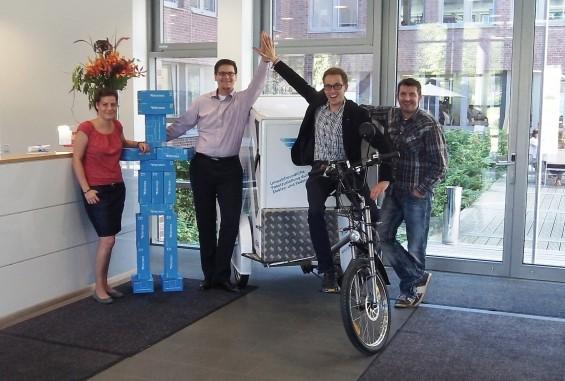 Team Digital Concepts (v.l. Nicole Bienert, Alexander Lange, Thomas Lerche, Oliver Heinemeyer)