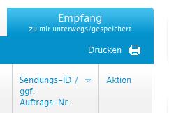 Empfangsübersicht myHermes.de