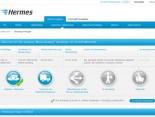 Die Sendungsverfolgung auf myHermes.de mit dem neuen Hinweis für angemeldete Nutzer, dass die Sendung in der Empfangsübersicht gespeichert wurde.