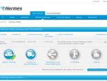 Die Sendungsverfolgung auf myHermes.de mit dem neuen Hinweis für anonyme Nutzer, ob die Sendung in der Empfangsübersicht gespeichert werden soll.
