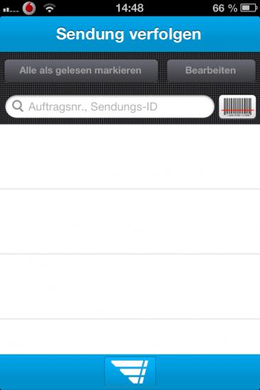 Sendungsverfolgung mit Barcode Scanner auf dem iPhone