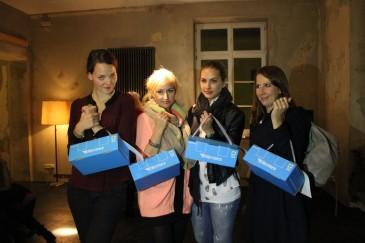 v.l.: Kiki von http://www.therandomnoise.com, Julia und Jacqui von http://frollein-liebelei.de, Corinna von http://www.modephonie.de