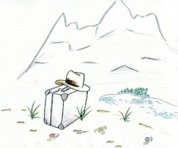 Ein Koffer geht auf Reisen - Bild von Anne Bergmann