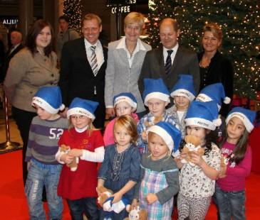 Eröffnung der Spendenaktion mit Hamburger Bürgermeister Olaf Scholz