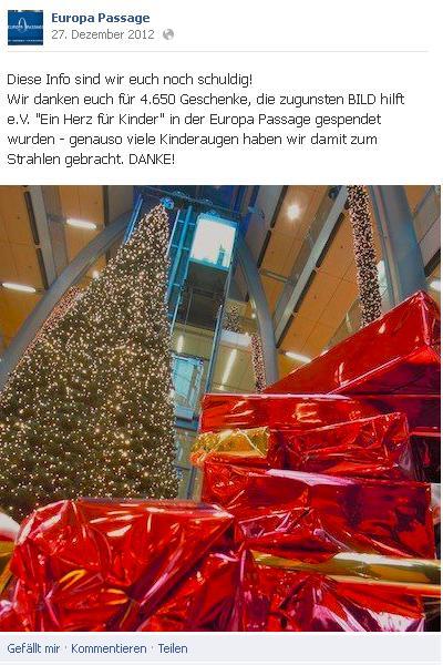 Weihnachtsbaum Europapassage