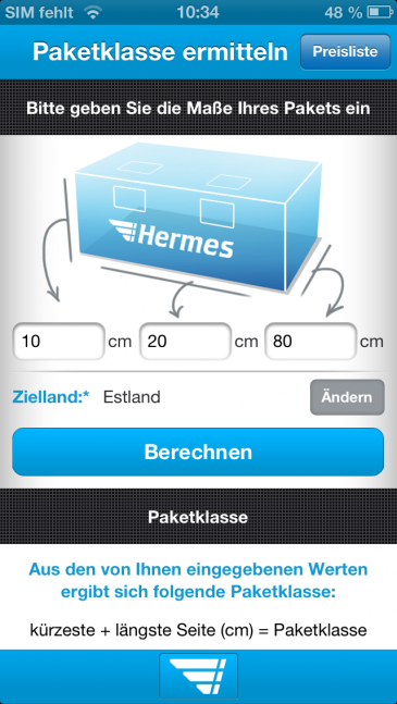 iPhone5 - Paketklasse