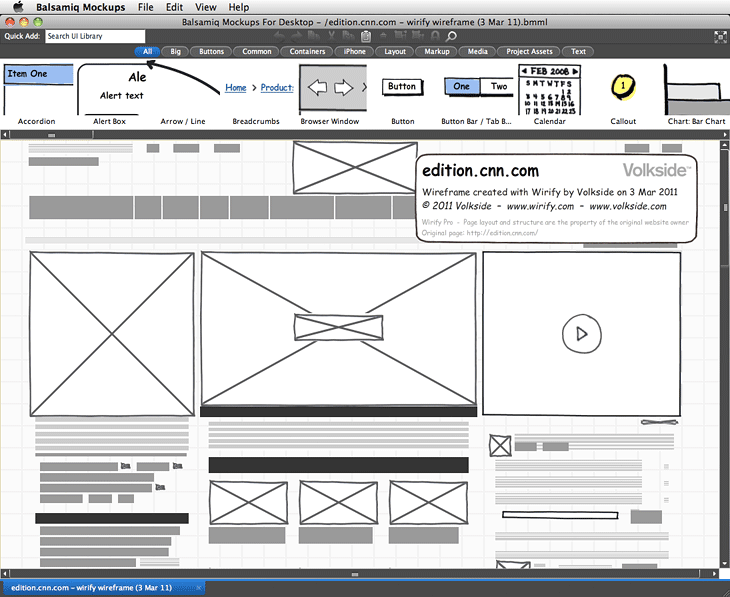 Web Design Mockup And Wireframe