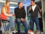 Hermes Fan Tour Stuttgart Moderatoren mit Hansi Müller
