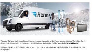 Gepäckversand mit Hermes