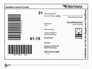 Hermes Paketschein