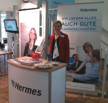Hermes Messestand auf der Firmenkontaktmesse 2013