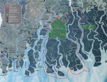Sunderbans map