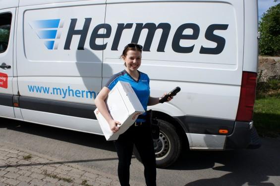 Unterwegs mit einem Hermes Zusteller