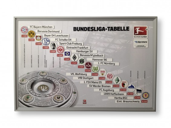 Hermes Magnettafel Bundesliga Tabelle
