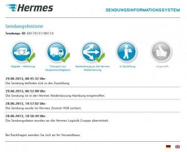 Hermes Online Sendungsverfolgung - Wo ist mein Paket