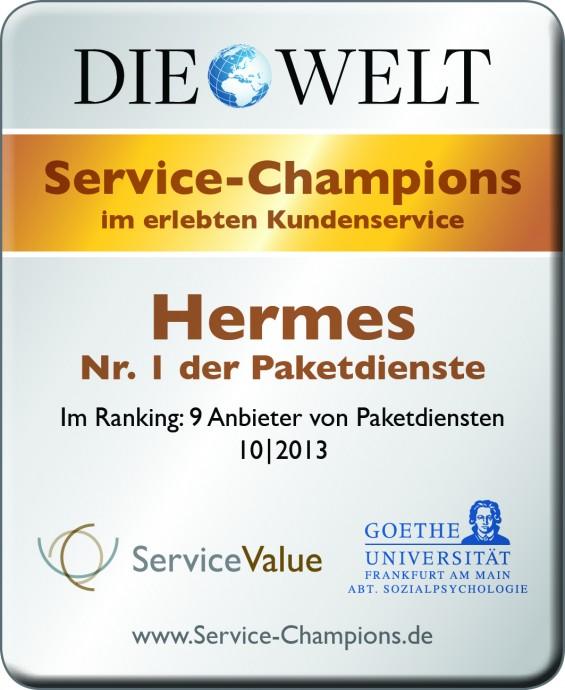 Hermes ist erneut Service Champion im erlebten Kundenservice