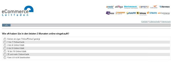 Umfrage E-Commerce Leitfaden Onlinekauf