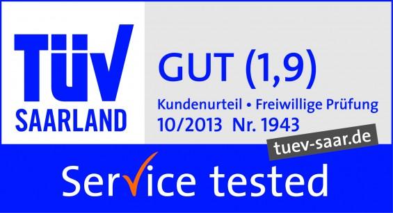 Hermes mit Gut bewertet TÜV Saarland