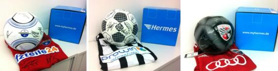 Hermes Blog Gewinnspiel Montagsverlosung Fußball Trikots Bälle