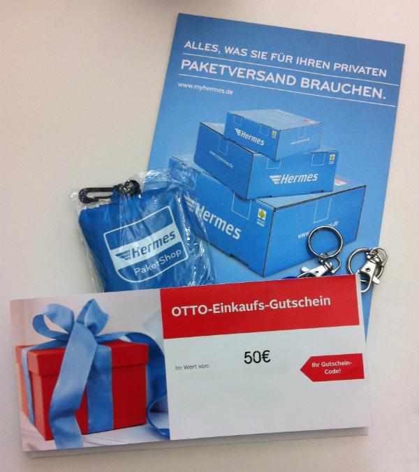 Hermes Blog Gewinnspiel OTTO Gutschein