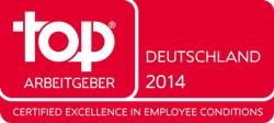 Top Arbeitgeber 2014 Siegel