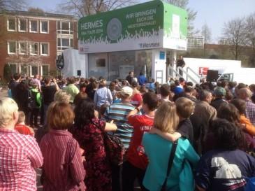 Hermes Fan Tour Stopp in Cloppenburg
