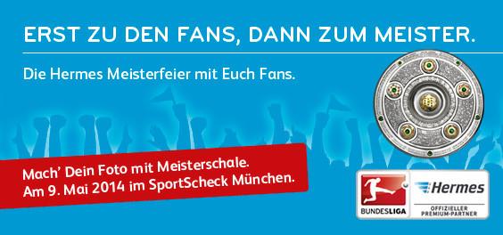 Hermes Bundesliga Meisterfeier im Sportscheck München