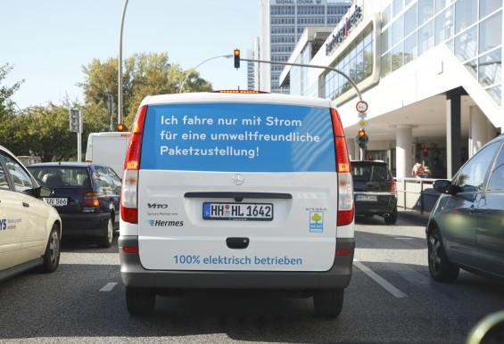 Umweltfreundliche Paketzustellung mit Hermes - 100 Prozent elektrisch betrieben