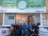 Das Team der Hermes Fan Tour 2014