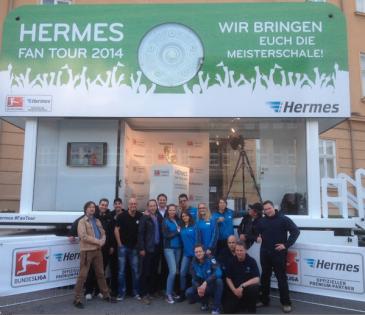 Das Team der Hermes Fan Tour 2014