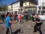 Kopfball-Challenge mit Ballkünstler Sinan