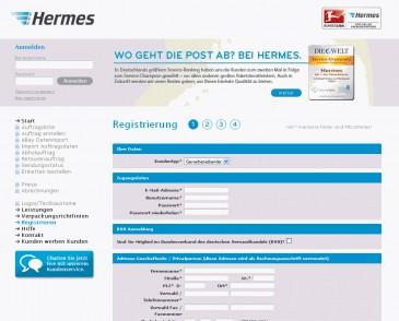 Live Chat Angebot auf profipaketservice.de