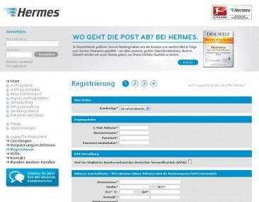 Live Chat Angebot beim Hermes ProfiPaketService