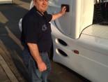 Meisterschalen-Truck Fahrer Sascha ist startklar