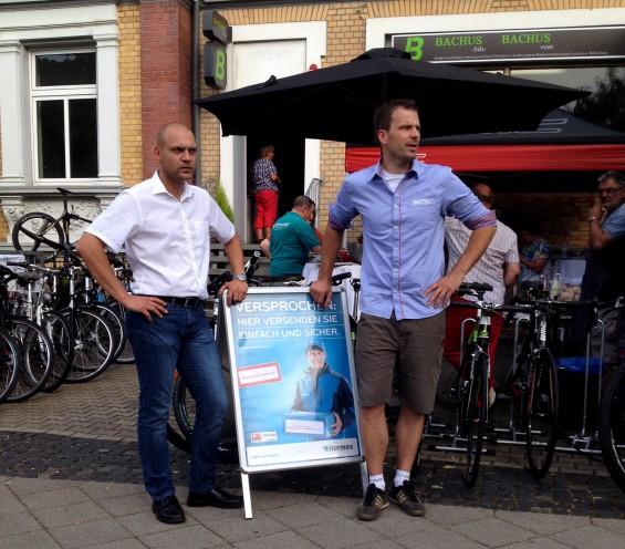 Hermes PaketShop Bachus Bike Erfurt Eröffnung
