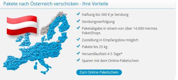 Briefe Verschicken Mit Hermes : Paketversand mit hermes nach Österreich