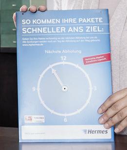 Hermes Laufzeitbeschleunigung Abholuhr im Detail