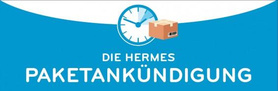 Die Hermes Paketankündigung