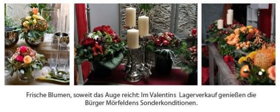 Valentins Blumen und Sträuße