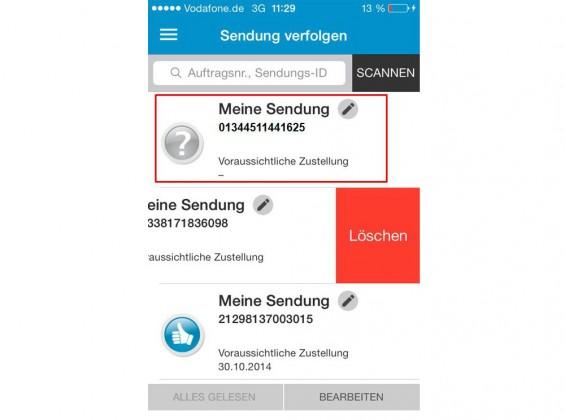Hermes App Mobiler Paketschein