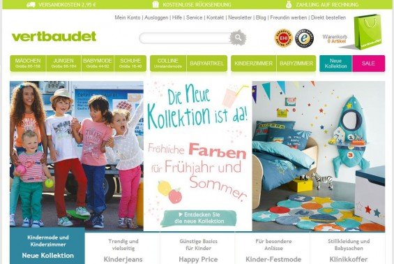 Vertbaudet Website