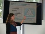 Saskia Bloch beim Vortrag zum Thema Nachhaltigkeit bei Hermes