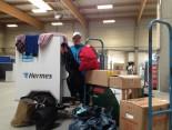 Kleiderspenden für die Kleiderkammer für Flüchtlinge in den Hamburger Messehallen http://zusammenschmeissen.de/