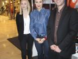 Auszubildende Sandra Rohde, Moderatorin Ruth Moschner und  Jan-Hendrik Ehlers
