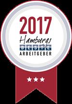 Hamburgs beste Arbeitgeber 2017 3 Sterne