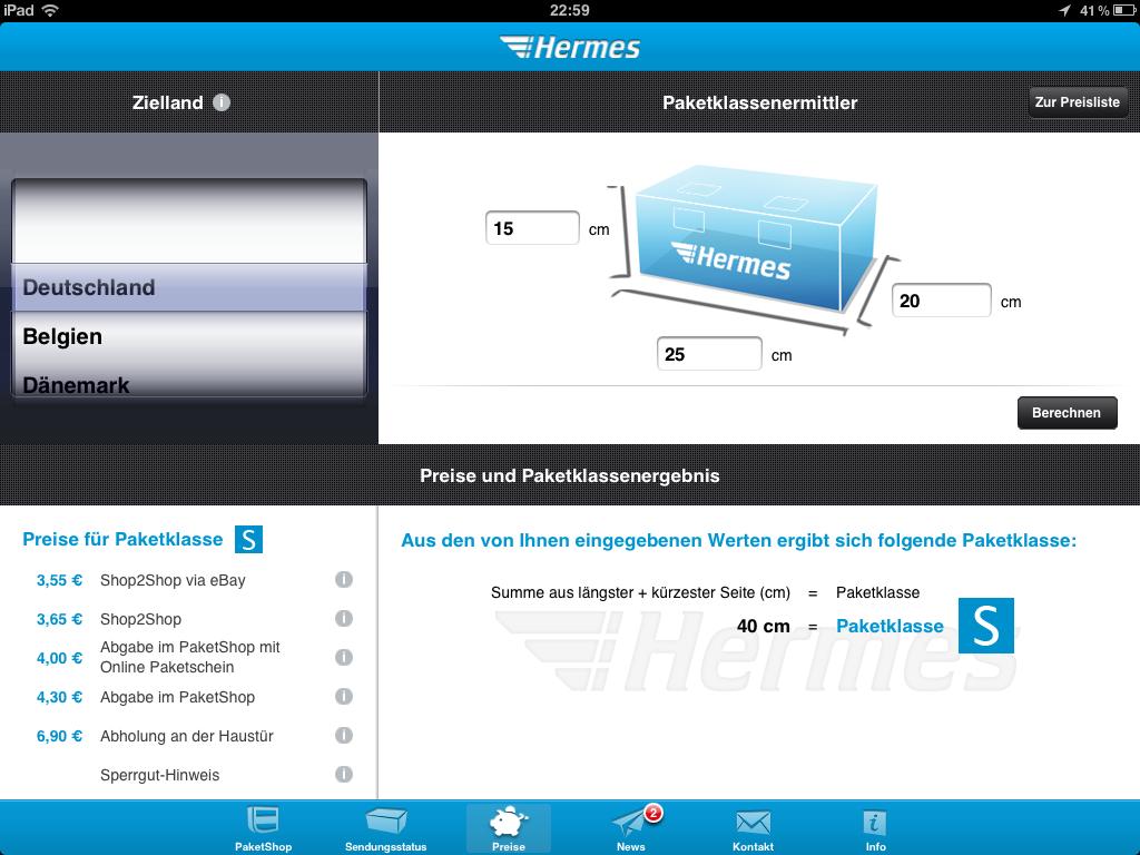 hermes jetzt mit neuer app für iphone & ipad
